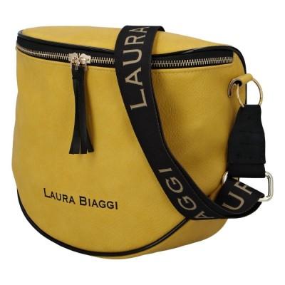 Dámská módní crossbody kabelka Laura Biaggi Mimi žlutá