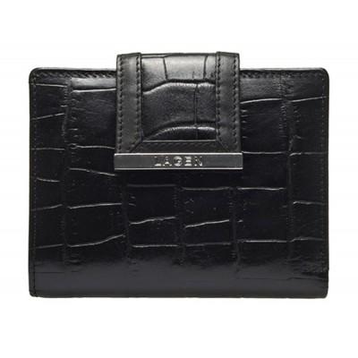 Dámska kožená peňaženka LAGEN 61175 čierna