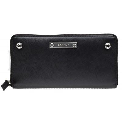 Dámska kožená peňaženka LAGEN 26511 čierna