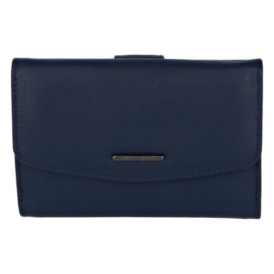 Elegantná dámska kožená peňaženka Bellugio Petra modrá