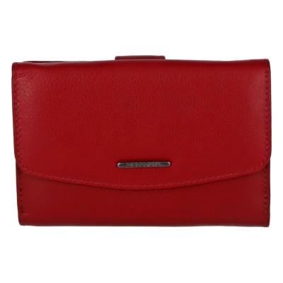 Elegantná dámska kožená peňaženka Bellugio Petra červená