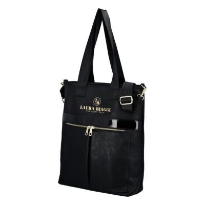 Dámska trendy kabelka Laura Biaggi Italy fashion lady čierna