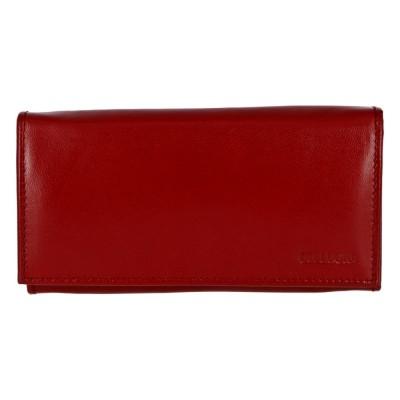 Luxusná priestranná kožená peňaženka Bellugio Bethe červená