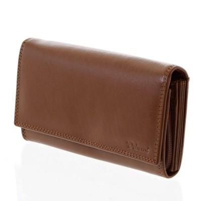 Dámska kožená peňaženka Delami Antonella hnedá