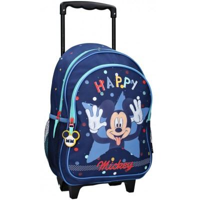 Detský cestovný batôžtek na kolieskach Mickey Mouse - HAPPY