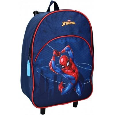 Detský cestovný batôžtek na kolieskach Spiderman