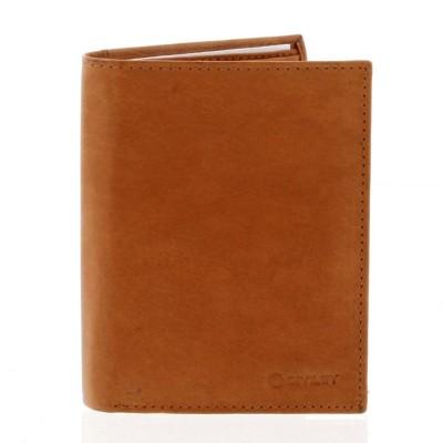 Pánská kožená peněženka Diviley Roger koňaková hnědá