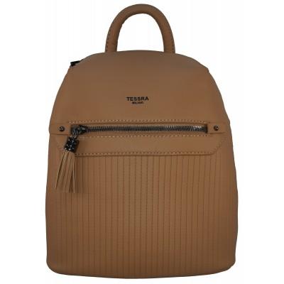 Dámský stylový batůžek TESSRA Milano 4736 hnědý