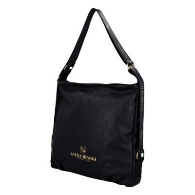 Moderná dámska kabelka Laura Biaggi Stylish lesklá čierna