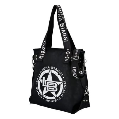Dámska trendy kabelka Laura Biaggi Starish queen čierna