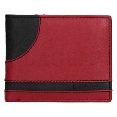 Pánska kožená peňaženka LAGEN LG1812 červeno / čierna