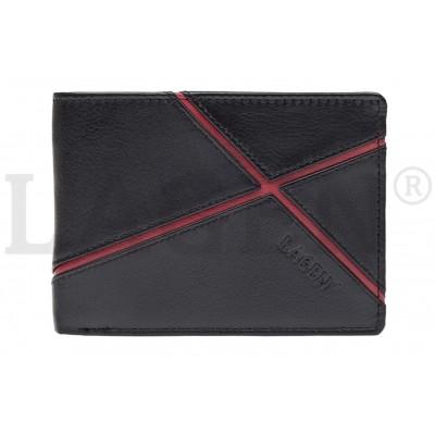 Pánska kožená peňaženka LAGEN 11809 čierna
