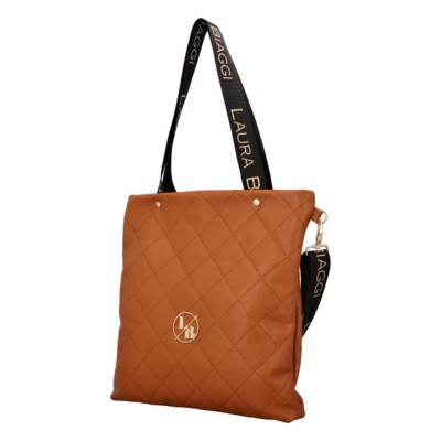 Dámska elegantná kabelka Laura Biaggi Olivie hnedá