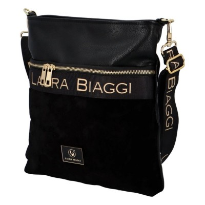 Dámská luxusní crosbody kabelka Laura Biaggi Ellen černá