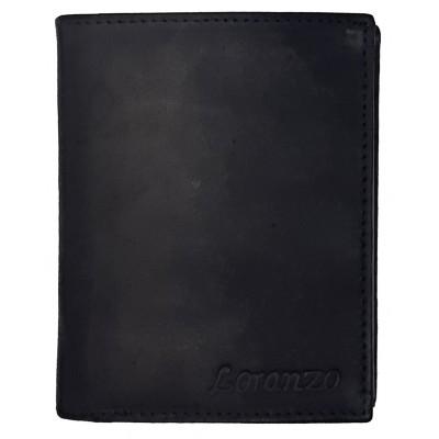 Pánska kožená peňaženka Loranzo čierna