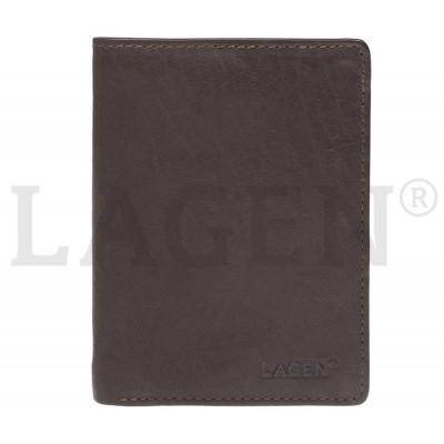 Pánská kožená peněženka LAGEN 2103 hnědá