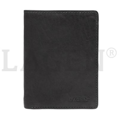 Pánska kožená peňaženka LAGEN 2103 čierna