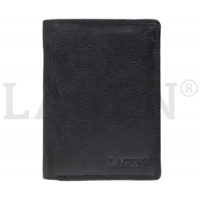 Pánska kožená peňaženka LAGEN 90752 čierna
