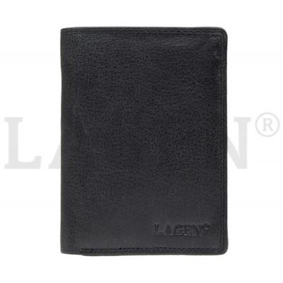 Pánská kožená peněženka LAGEN 90752 černá