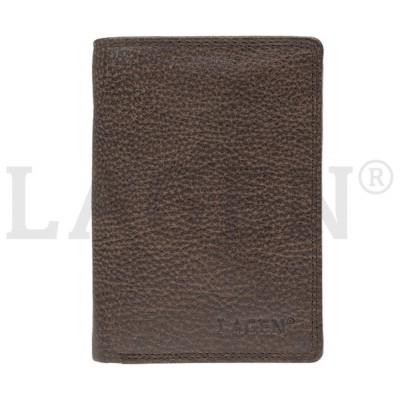 Pánska kožená peňaženka LAGEN 90752 tmavo hnedá