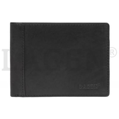 Pánska kožená peňaženka LAGEN 7176 čierna