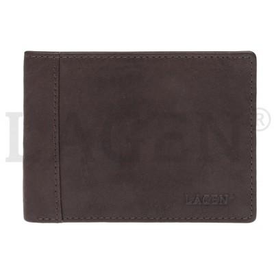 Pánska kožená peňaženka LAGEN 7176 hnedá