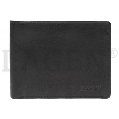 Pánska kožená peňaženka LAGEN 2104 čierna