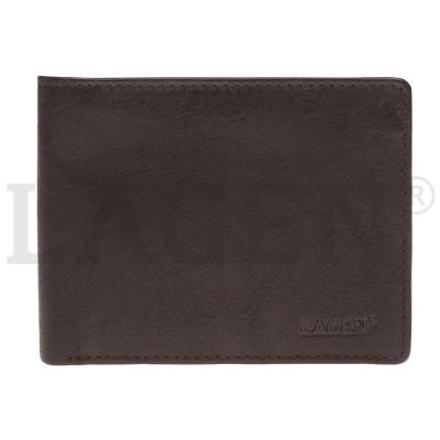 Pánská kožená peněženka LAGEN 2104E hnědá