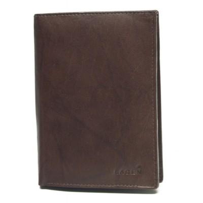Pánska kožená peňaženka LAGEN V72 hnedá