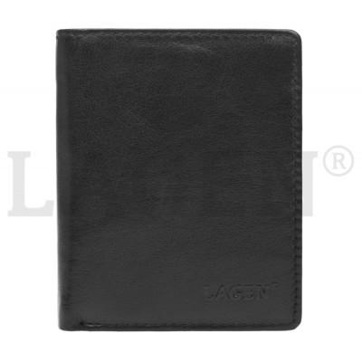 Pánska kožená peňaženka LAGEN 2310004 čierna