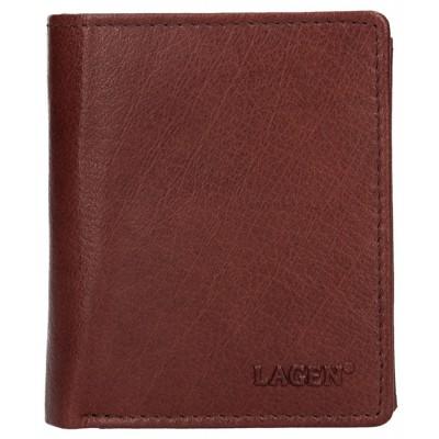 Pánska kožená peňaženka LAGEN 2310004 hnedá