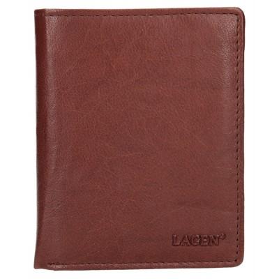 Pánská kožená peněženka LAGEN V2 hnědá