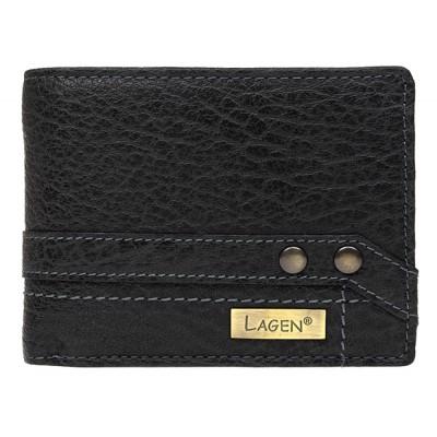Pánska kožená peňaženka LAGEN 113 čierna