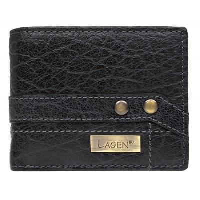 Pánska kožená peňaženka LAGEN 559W čierna