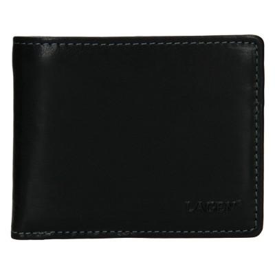 Pánska kožená peňaženka LAGEN W 8120 čierna