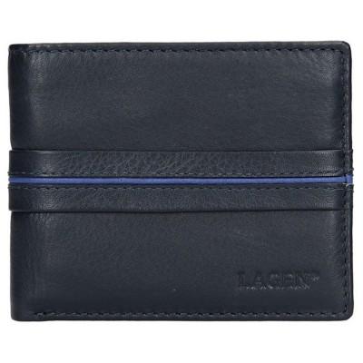 Pánska kožená peňaženka LAGEN 3905 modrá