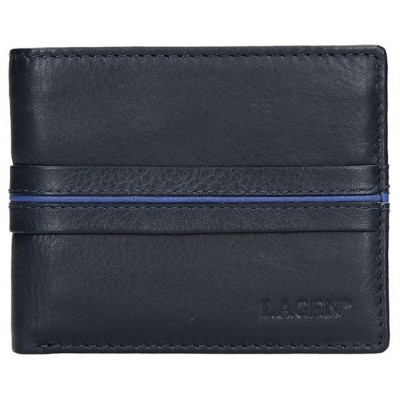 Pánská kožená peněženka LAGEN 3905 modrá