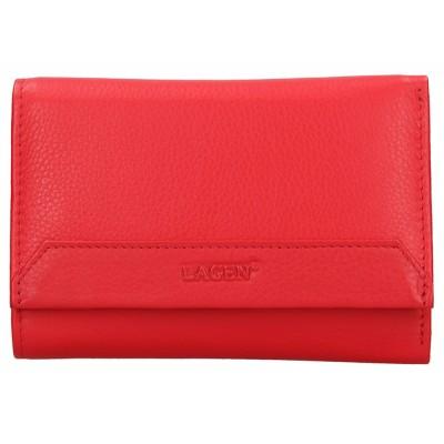 Dámska kožená peňaženka LAGEN LG11 svetlo červená