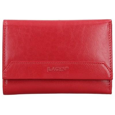 Dámska kožená peňaženka LAGEN LG 11 červená