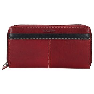 Dámska kožená peňaženka LAGEN 26512 červeno / čierna