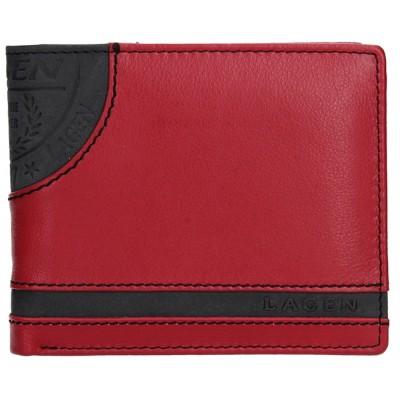 Pánska kožená peňaženka LAGEN LG 1810 červeno / čierna
