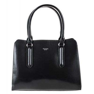 Dámska štýlová kabelka do ruky TESSRA 3998 čierna