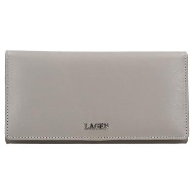Dámská kožená peněženka LAGEN 50310 světle šedá