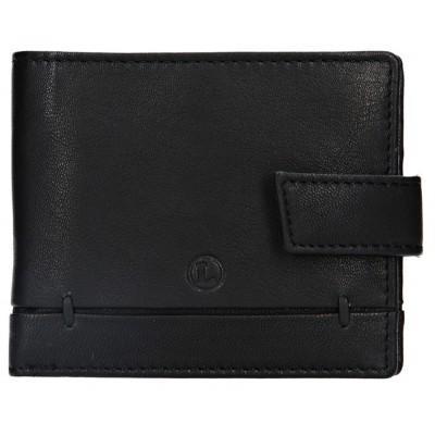 Pánska kožená peňaženka LAGEN 4139 čierna