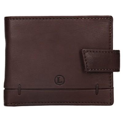 Pánská kožená peněženka LAGEN 4139 hnědá