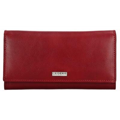 Dámská kožená peněženka LAGEN 50038 červená