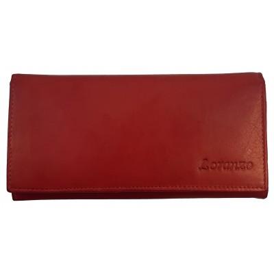 Dámská kožená peněženka Loranzo červená