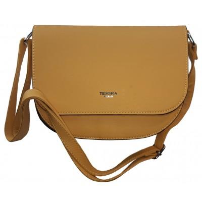 Dámská stylová kabelka TESSRA 4158 žlutá