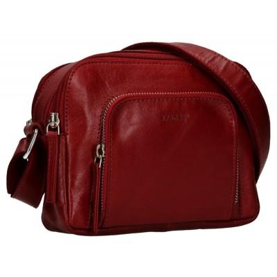 Dámská kožená kabelka LAGEN 1226 červená