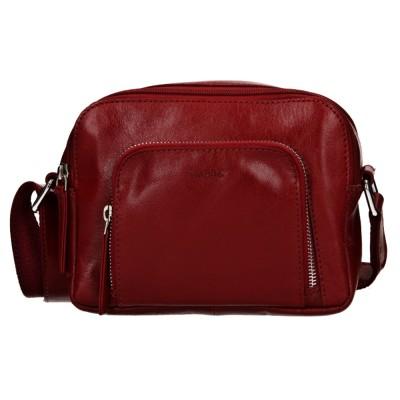 Dámska kožená kabelka LAGEN 1226 červená